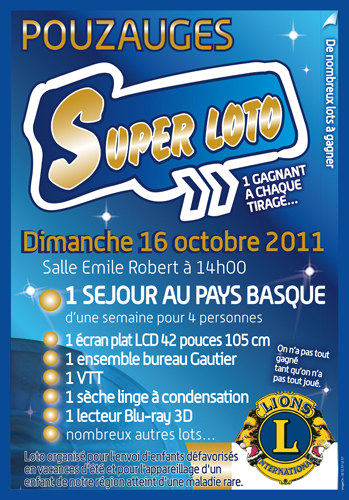 Affiche loto 2011.indd