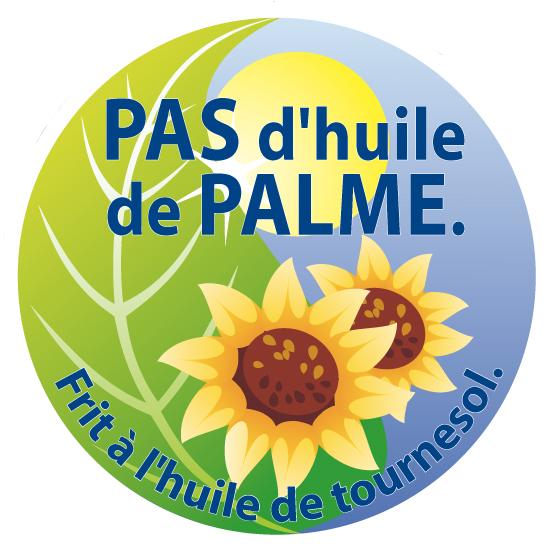 Sticker sans huile de palme