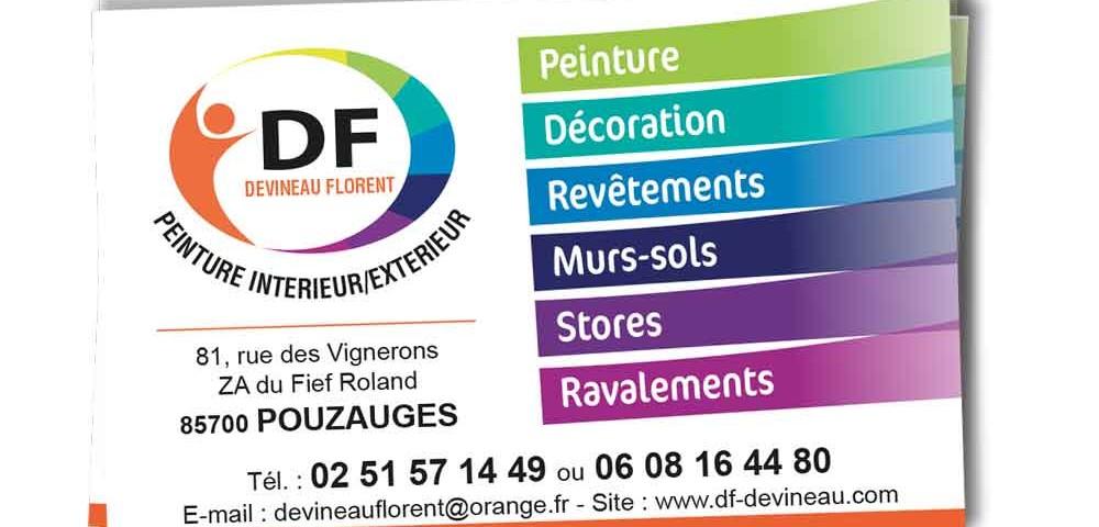 carte de visite peintre Carte de visite F. Devineau (peinture) | Images'In